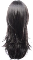 Wig-O-Mania Sandra Japanese High Heat Fibre Mono At Parting Long Warm Brown 19 Inch Hair Extension (Warm Brown)