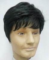 Wig-O-Mania Wilson High Heat Men's Wig Natural Black 5 Inch Hair Extension (Natural Black)