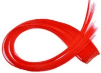 Gimmick Colorful Clip On Off Fake  Extension 18'' Red 18 Inch Hair Extension (Red)
