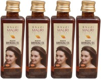 Khadi Mauri Maha Bhringraj Pack Of 4 Herbal Ayurvedic 100 Ml Each Hair Oil (400 Ml)