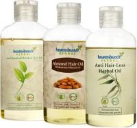 Healthbuddy Herbal Combo - Anti Dandruff Hair Oil + Almond + Anti 1 Bottle Each Of Hair Oil (200 Ml)