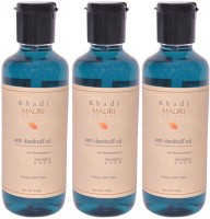 Khadi Mauri Anti Dandruff Hair Oil Pack Of 3 Herbal Ayurvedic Natural 210 Ml Each Hair Oil (630 Ml)