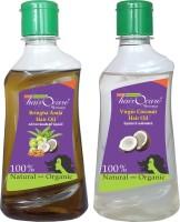 Hairocare Bringha Amla (200 Ml) + Virgin Coconut (200 Ml) - Black & Grey Hair Remover - Hair Oil (400 Ml)
