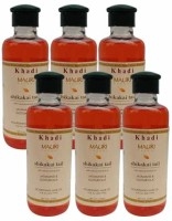 Khadi Mauri Shikakai Hair Oil Pack Of 6 Herbal Ayurvedic & Natural 210 Ml Each Hair Oil (1260 Ml)