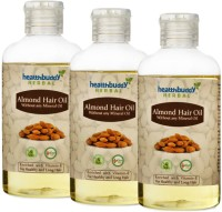 Healthbuddy Herbal Almond, 3 Packs Of 200 Ml Each Hair Oil (600 Ml)