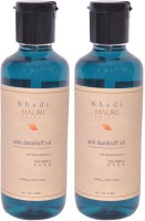 Khadi Mauri Anti Dandruff Hair Oil Pack Of 2 Herbal Ayurvedic Natural 210 Ml Each Hair Oil (420 Ml)