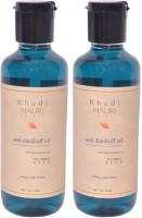 Khadi Mauri Anti Dandruff Hair Oil Pack Of 2 Herbal Ayurvedic Natural 210 Ml Each Hair Oil (420 Ml)