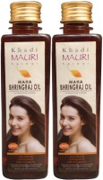 Khadi Mauri Maha Bhringraj Pack Of 2 Herbal Ayurvedic 250 Ml Each Hair Oil (500 Ml)