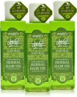 Khadi Herbal Anti-Hairfall Oil [pack Of THREE] Hair Oil (600 Ml)