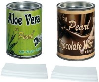 PM Pearl Hair Removal Wax(Aloe Vera And Chocolate) With Strips (600 G)