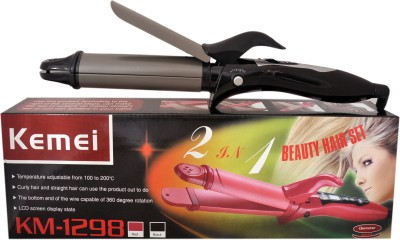 Kemei Wet and Dry Premium Multistyler km-1298 Hair Straightener (Black)