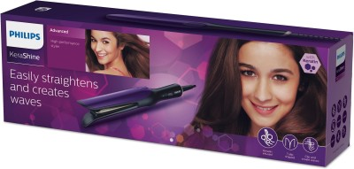 Philips Kerashine High Performance Styler BHH777/20 Hair Straightener (Purple)