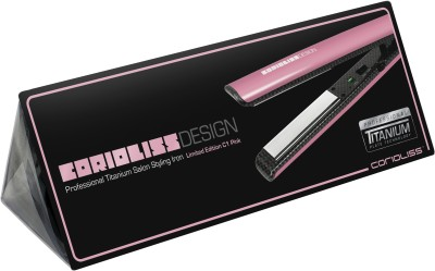 Corioliss C1 Design Professional Titanium Salon Styling Hair Straightener (Pink)