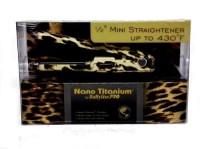 Conair Leopard Printed Mini Hair Straightener (Brown)