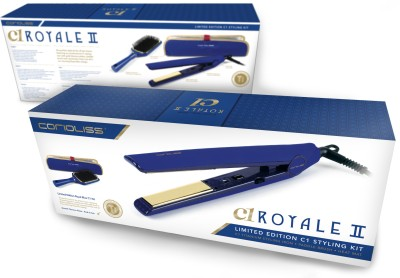 Corioliss C1 Royale Limited Edition Titanium Professional Styling Kit Hair Straightener (Blue)