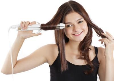 Nova 2 in 1 Advanced Selfie NHS 894 Hair Straightener (White, Gold)