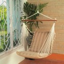 Hangit Soft Tan Chair Polyester Swing (Brown)