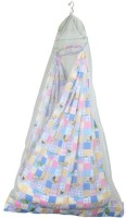 Younique Pure Cotton 3 In 1 Baby Bedding Set With Attached Mosquito Net Cotton Swing (Multicolor)