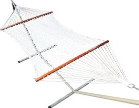 Hangit 48''W X 11'Ft Rope Cotton Hammock (White)