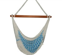 Royallyrelax Handmade Mexican Rope Cotton Hammock (Blue)