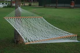 Hangit 13'Ft Large Rope Cotton Hammock (White)
