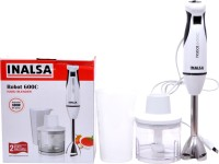 Inalsa HBR600 600 W Hand Blender (White, Black)