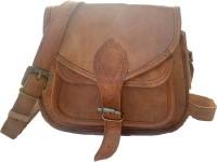 EKLCOM Sling Bag NATURAL LEATHER, BROWN