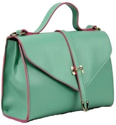 Craftstages Green Elegant Designer Hand Bag Green