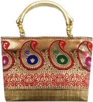Bhamini Traditional Mango Hand-held Bag Gold-01