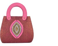 Freddys Ethnic Stone Work Hand-held Bag - Multicolor