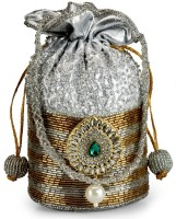 Ahankara Pouch Potli Silver And Gold
