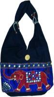ADS Embroidered Jhola Handicraft Shoulder Bag Navy Blue