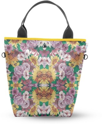 Atrangee Floral Ignition Tall Tote Green & Yellow