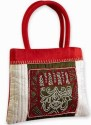 Indha Craft Hand Embroiderd Hand Bag - Red-02