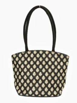 Jute Tree Eye Hand Bag - Black