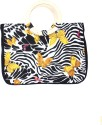 Samsara Canvas Butterflies Print Hand Bag - Multi-color
