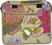 Lal Haveli Rajasthani Handmade Kantha Thread Work Bag Messenger Bag Beige