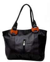 Estoss Wood Touch Shoulder Bag Black-02