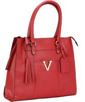 Valentino Valentino Genuine Leather Red Color Medium Size Womens Hand Bag Shoulder Bag Red