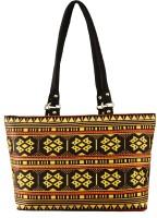Shilpkart Unique Digital Tribal Printed Hand-held Bag Black