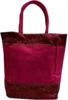 Indha Craft Zari Lace Tote (Pink-11)