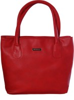 Womaniya Ethnic Silver Rose Collection-217 Hand-held Bag Red