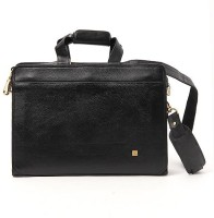 Walletsnbags Sleek Aristocrat Office Messenger Bag - Black- P 17