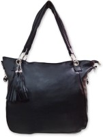 Hi Look Self Textured Shoulder Bag (Black-01)