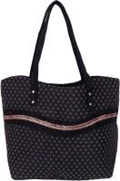 Womaniya Handicraft Jute Shoulder Bag (Black)