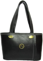 Black&Yellow Casual Shoulder Bag - Black