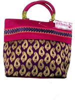 Ethnics Mauve Hand-held Bag Multicolor