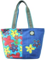 Anekaant Flora Hand-held Bag - Blue