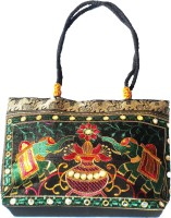 Ethnic Art Handcrafted Gorgeous Hand-Held Bag Black