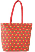 Campus Sutra Eco Friendly Jute Shoulder Bag (Red)
